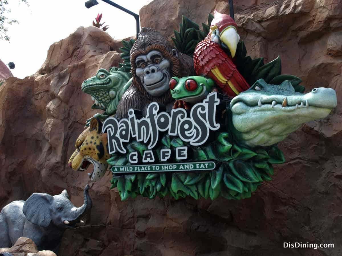 Rainforest Cafe Menu Downtown Disney