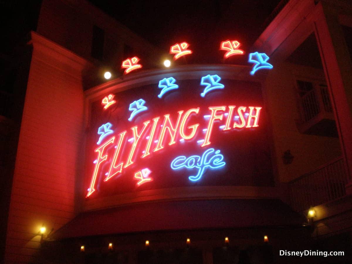 Review flying fish caf boardwalk area disneydining for Flying fish restaurant disney