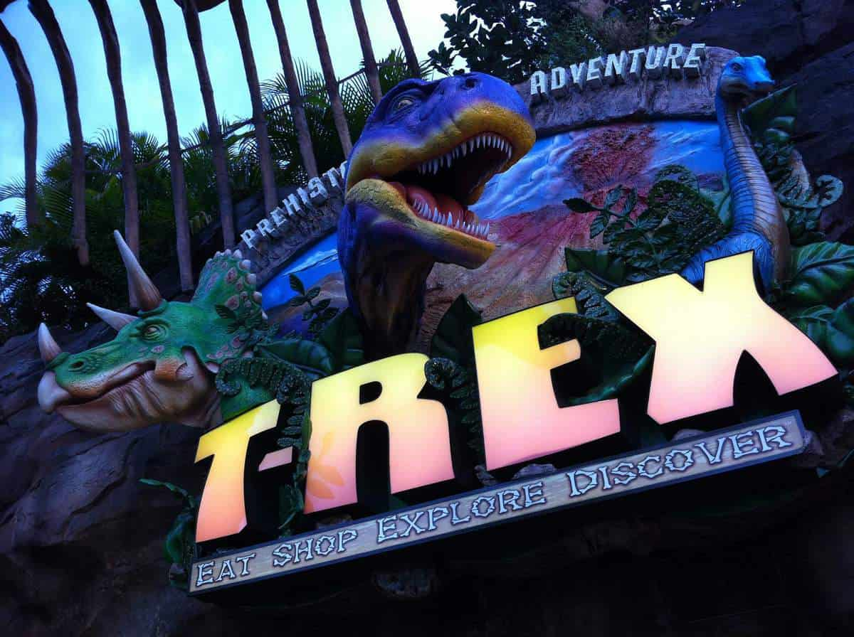 Top nine non character restaurants that your kids will for Disney dining plan t rex