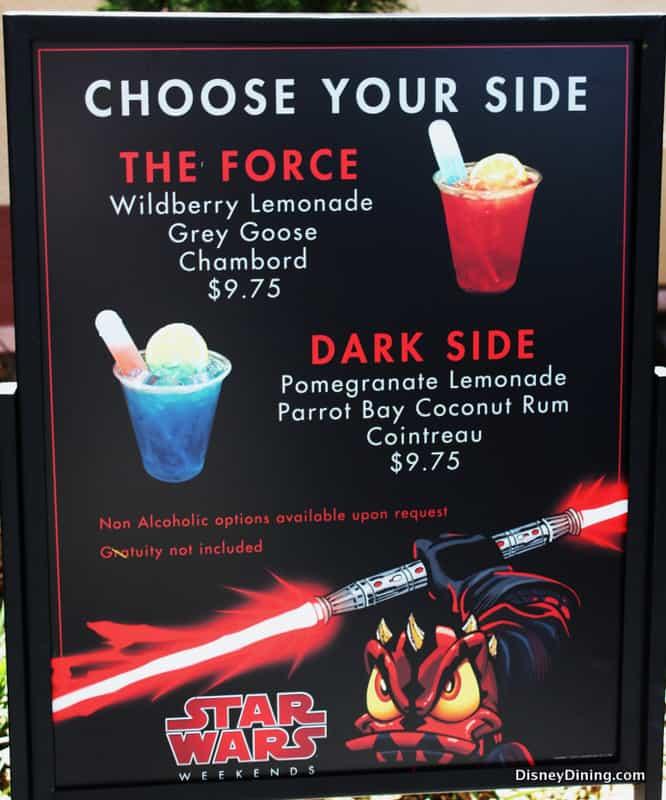 star wars weekends drink menu   disneydining
