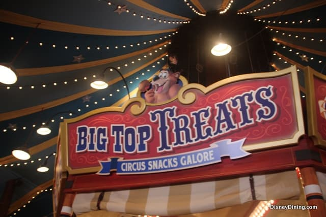 Big Top Treats sign