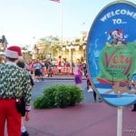 2. Welcome Sign to Mickey's Very Merry Christmas Party 2013, Magic Kingdom, Walt Disney World