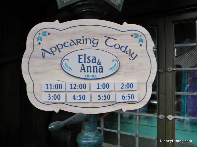 disney epcot meet and greet times