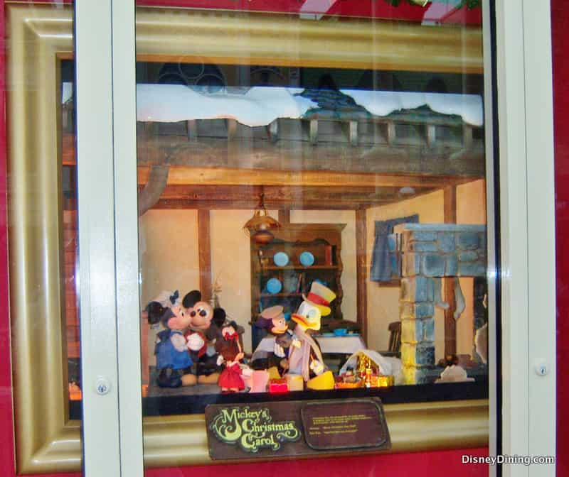 mickeys christmas carol 2 13 holiday store window emporium magic kingdom walt disney world - Disney Christmas Store