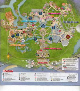 Mickey's Very Merry Christmas Party 2013 event map center