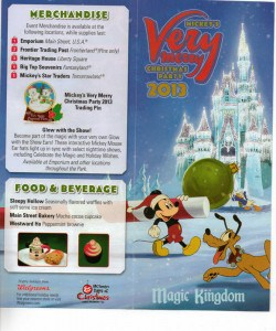Mickey's Very Merry Christmas Party 2013 event map cover