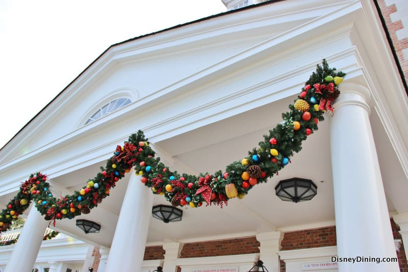 American adventure christmas decorations epcot walt for American christmas decorations