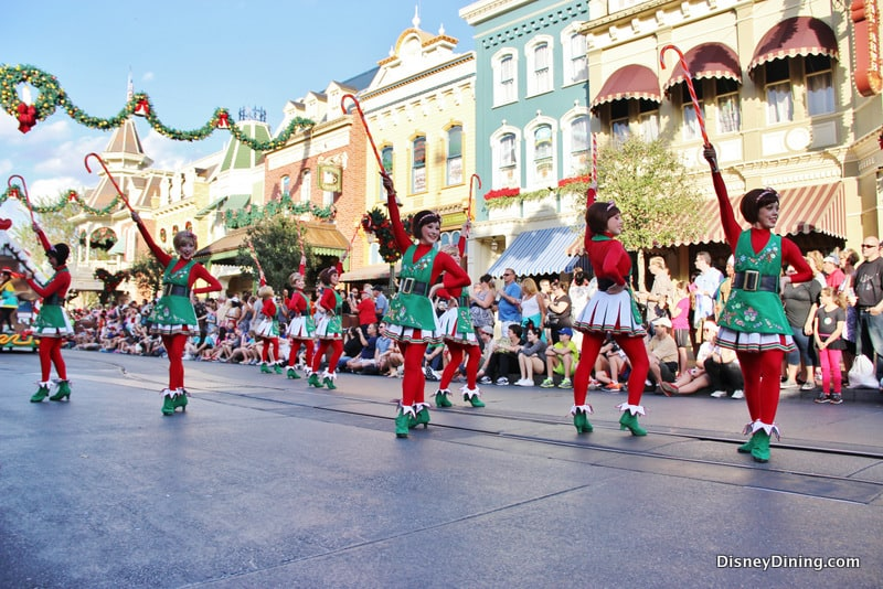 Candy cane dancers, christmas parade, magic kingdom, walt disney ...