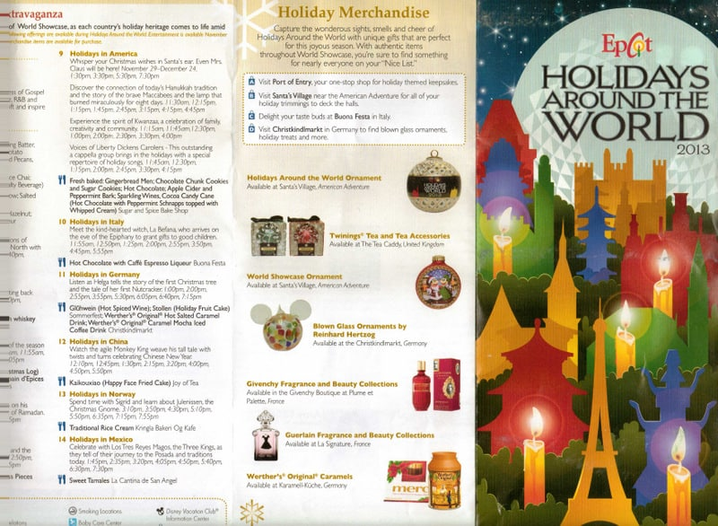 Epcot S Holidays Around The World Map And Passport