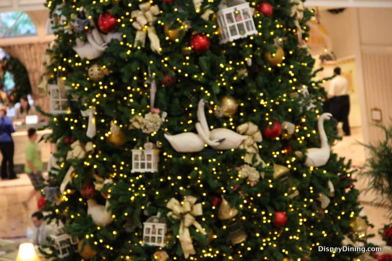 Ornaments on Christmas Tree, Grand Floridian, Walt Disney World ...