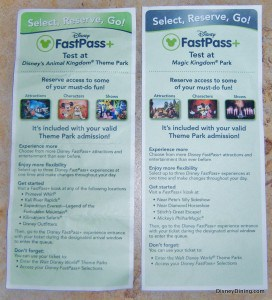 FastPass+ Testing Brochure, Front