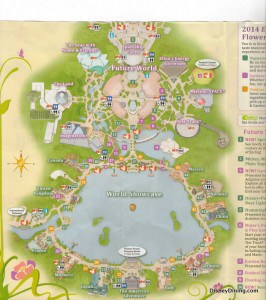 2014 Flower and Garden Fest Map, Epcot, Walt disney world (1)