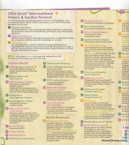 2014 Flower and Garden fest map2, epcot, walt disney world
