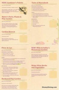 2014 Flower and Garden fest passport4, epcot, walt disney world