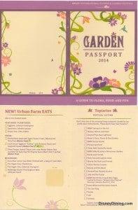 2014 Flower and garden fest passport1, epcot, walt disney world