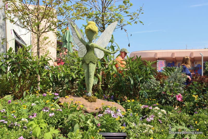Tinkerbell topiary, epcot flower and garden festival - DisneyDining