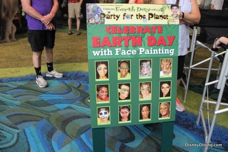earth day face painting animal kingdom walt disney world