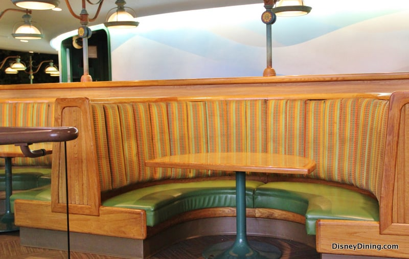 Garden Walk Dining: 82. Garden Grill Booths, Rotating Seating, The Land, Epcot