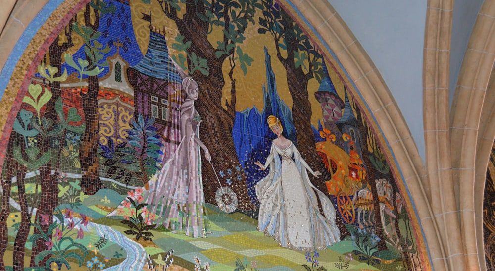 Top 12 facts about cinderella castle at walt disney world for Disney castle mural