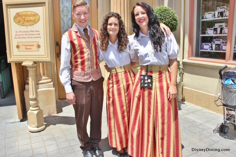 New France Cast Member Costumes, epcot, world showcase, france, walt disney world
