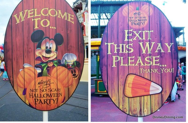 Signs for MickeysNotSoScary Halloween Party 2013