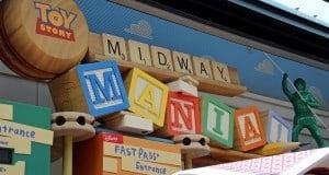 Toy Story Midway Mania signage, pixar place, hollywood studios, walt disney world