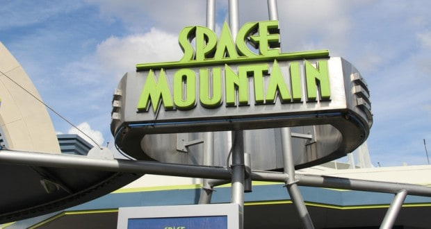 space mountain sign, tomorrowland, magic kingdom, walt disney world