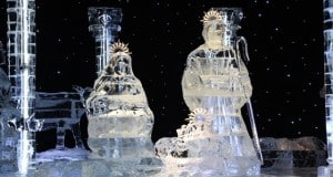 Gaylord Palms Ice Nativity Holy Family