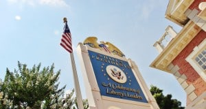 Hall of Presidents sign, liberty square, magic kingdom, walt disney world