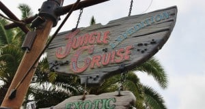 sign for Jungle Cruise, adventureland, magic kingdom, walt disney world