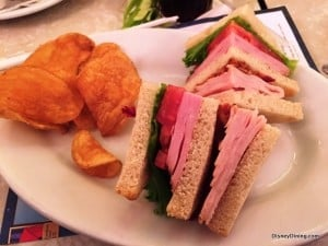 The Plaza Magic Kingdom Club Sandwich Half with House Chips
