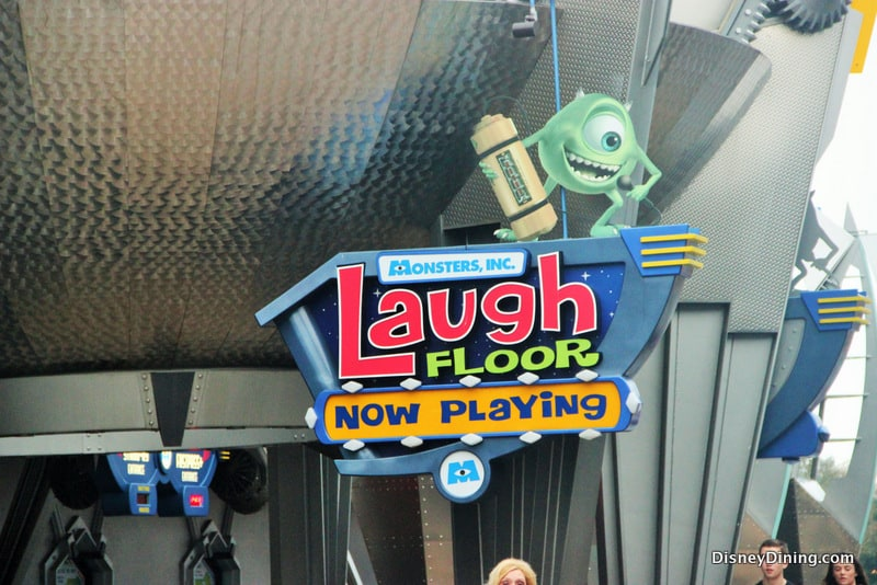 Monsters Inc Laugh Floor entrance sign