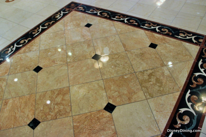 marble tile floor design, grand floridian resort, walt disney world