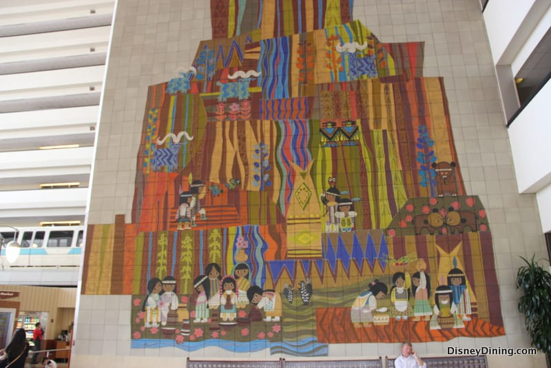 Top 9 amazing things about disney s contemporary resort for Disney world mural