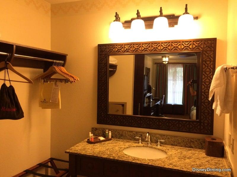 bathroom vanity mirror and lights, coronado springs, walt disney ...
