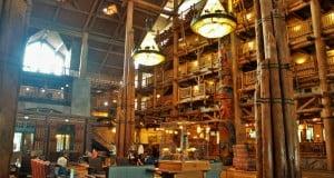 Lobby, wilderness lodge, walt disney world