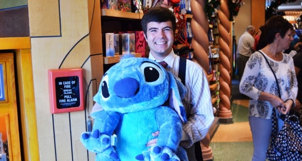 Hollywood Studios Cast Member Castmember with Stitch Stuffed Animal Doll Souvenirs 2 fb crop