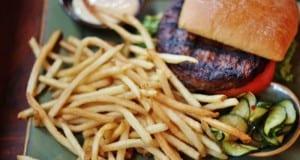 Kobe Beef Burger and fries Yak Yeti asia fb crop