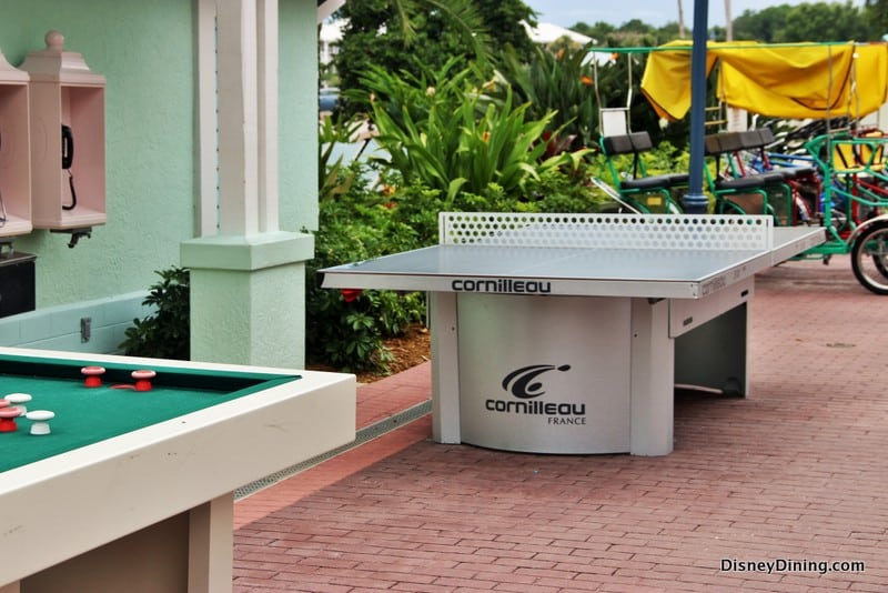 Ping Pong And Bumper Pool Tables Outside For Guests, Disneyu0027s Old Key West  Resort