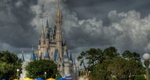Rainy Day cinderellas castle magic kingdom