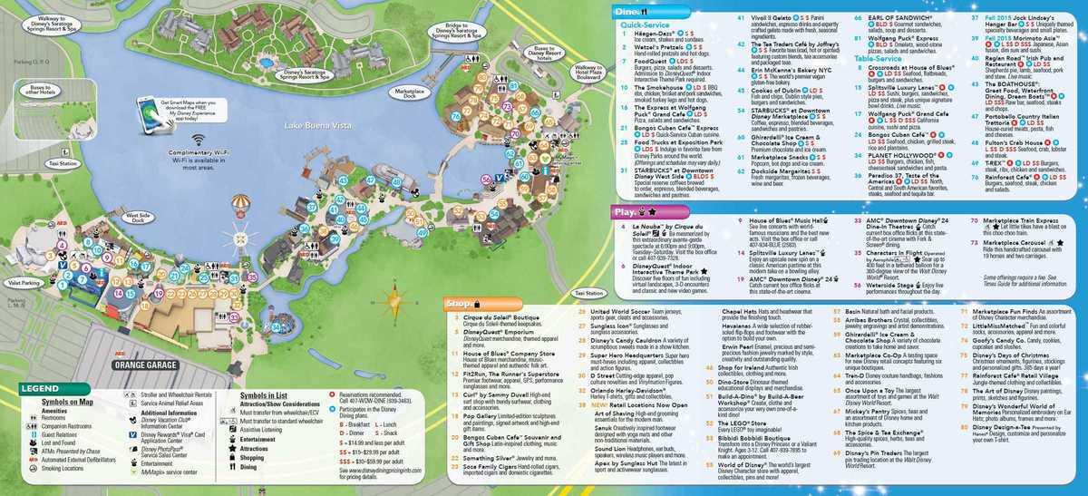 . Disney Springs Map   My blog