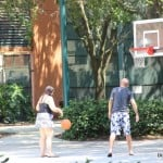pick up game of basketball in the shade, Swan, Swan & Dolphin, Walt Disney World