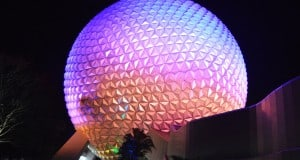 Epcot Spaceship Earth Night Side fb crop