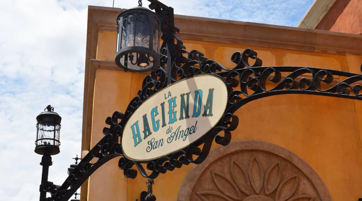 Epcot Mexico La Hacienda de San Angel Sign fb crop
