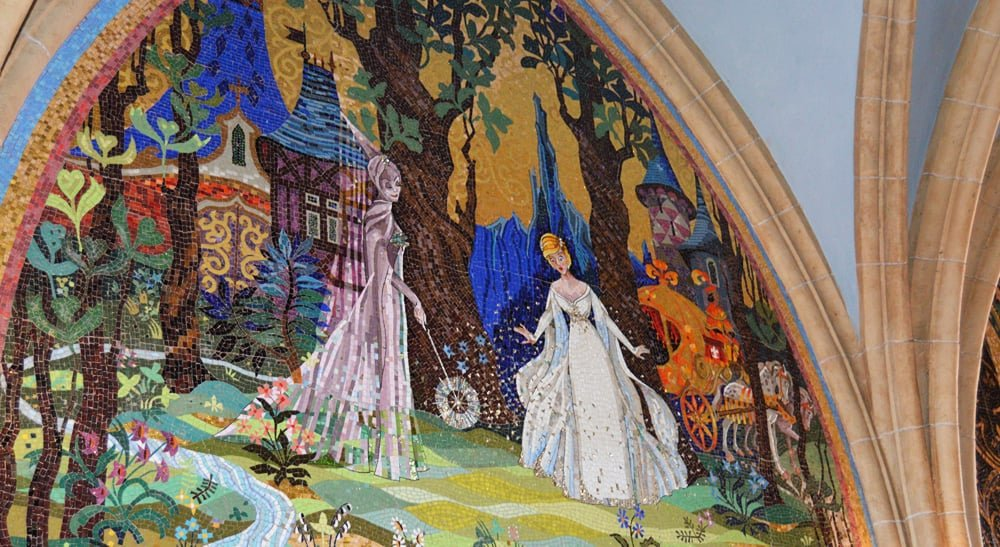 6 most beautiful sights at the magic kingdom in walt for Disney castle mural