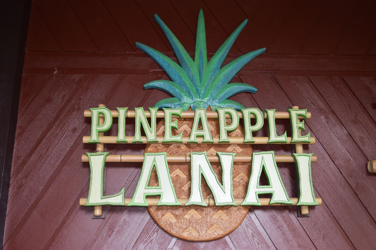 Polynesian Resort Pineapple Lanai Sign