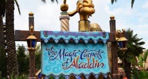 Magic Kingdom Aladdins Flying Magic Carpets Sign with Camel