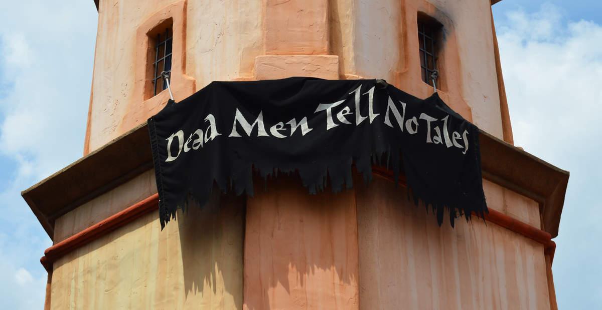 Magic Kingdom Pirates of the Caribbean Dead Men Tell No Tales Sign