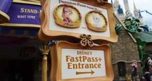 Magic Kingdom Princess Fairytale Hall Anna and Elsa Fastpass Entrance fb crop