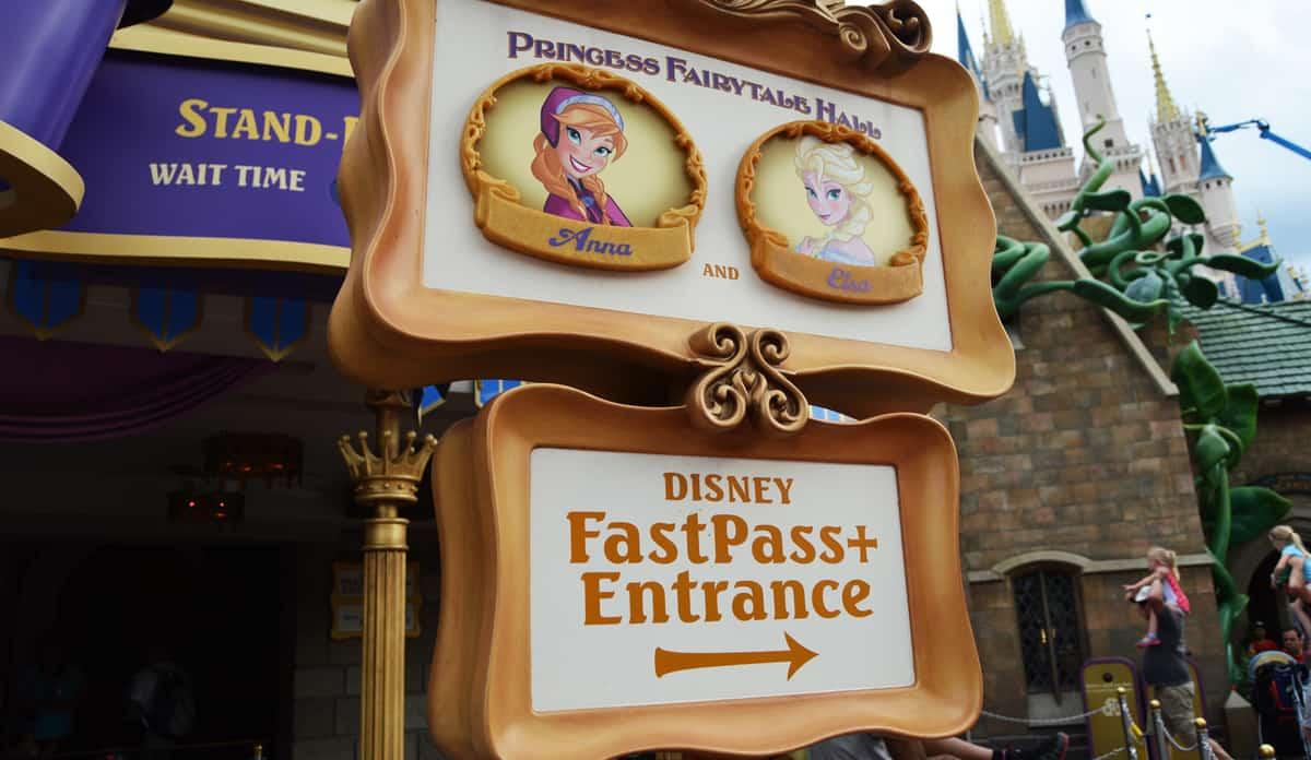 Magic Kingdom Princess Fairytale Hall Anna and Elsa Fastpass Entrance fb crop